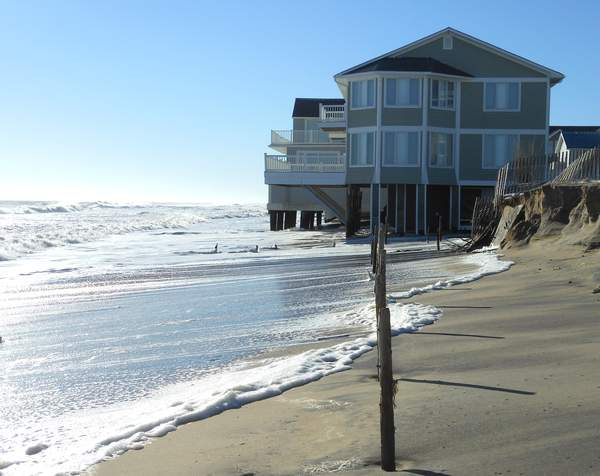 Coastal flooding and erosion in Dewey Beach, DE following Winter Storm Jonas in January 2016
